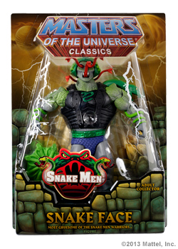 figurine masters of the universe classics snake face repticor mattycollector www.maitresdelunivers.org - www.musclor.fr.st