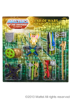 end of war weapons pack masters of the universe classics www.maitresdelunivers.org - www.musclor.fr.st
